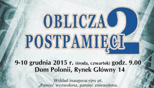 Konferencja pt. Oblicza postpamięci 2
