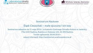 Śląsk Cieszyński - małe ojczyzny i ich losy