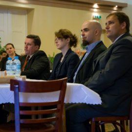 Zaproszeni goście (od prawej): dr inż. Łukasz Wróblewski, dr Rafał Cekiera, dr Justyna Kijonka, dr Jarosław Legięć