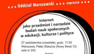Internet jako przedmiot i narzędzie badań nauk społecznych