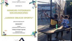 """Konkurs Fotografii Socjologicznej """"Ludzkie oblicze sportu"""""""