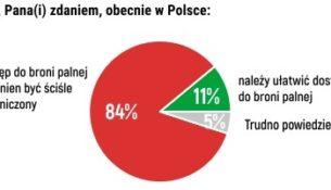 Polacy o dostępie do broni palnej