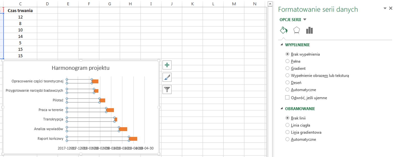 Jak stworzyć wykres Gantta w Excelu