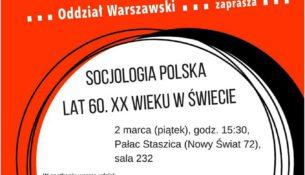 Socjologia polska lat 60. XX wieku w świecie